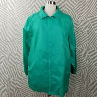 Woman Within plus Size 1X zip Up Wind Breaker Jacket Raincoat lightweight
