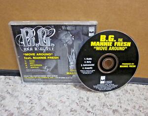 BG & MANNIE FRESH hip hop Move Around 2006 rap CD-single dirty B-Gizzle gangsta