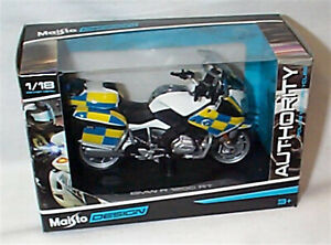 BMW R 1200 RT Police Authority Motorcycle 1-18 scale New in box