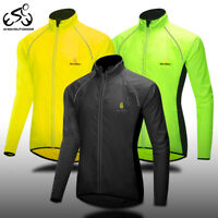 Cycling Windproof Jacket Reflective MTB Bike Riding Sports Coat Quick Dry Jersey