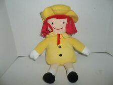 """kohl's cares for kids madeline doll wearing yellow outfit plush 14"""" tall"""