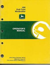 JOHN DEERE 590 PULL-TYPE WINDROWER OPERATORS MANUAL