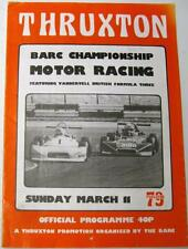 THRUXTON BARC CHAMPIONSHIP RACING 11th MAR 1979 MOTOR RACING PROGRAMMA UFFICIALE
