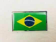 Brazil Flag Emblem Sticker Decal Brasil Brazilian - NEW - (#18C)