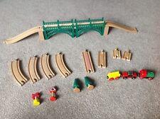 Wooden bridge and  train track bundle