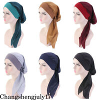 Muslim Women Flower Chemo Turban Hijab Cap Arab Lady Soft Head Wrap Beanie Hat