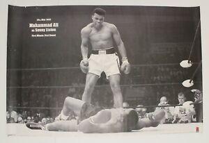 Muhammad Ali Poster Sonny Liston 1965 24 X 36