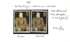 * 1968 4d PAINTINGS VERMILLION OMITTED SG771B UNMOUNTED MINT CAT £700
