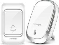 Toyuugo Wireless Doorbell, Weatherproof Wall Plug-in Cordless Door Chime...