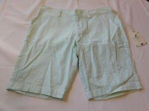 Caribbean Joe Island Supply Women's Ladies Shorts Size 10 Petite Island Aqua NWT