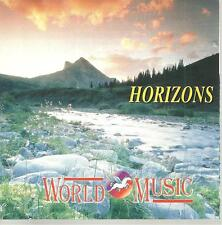 cd D2 VARIOUS HORIZONS - WORLD MUSIC ( Ginko Gardens Mike Rowland Blonker Kirk E