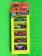 Matchbox 1995 5 Pack Hot Rods Challenger Corvette Willys Mustang Chevy 060032-7