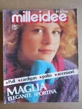 MILLEIDEE n°11 1985 - rivista di moda e lavori femminili  [C54]