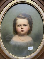 Superb Victorian Angry Girl's Portrait Hand Painted Tin Type