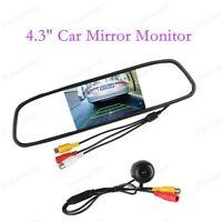 """4.3"""" TFT Auto LCD Monitor a specchio con Davanti Posteriore Vista Telecamera"""