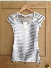 Zara Cotton Blend Singlepack Striped Tops & Shirts for Women