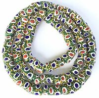 Ghana African Matched Op Olive Green with eye Round Recycled glass trade beads
