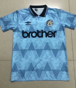1989 Manchester City Home Retro Soccer Jersey