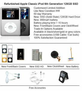 128GB SSD Apple iPod Classic 6th Generation Multi Color / Excellent Condition