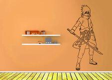 Wall Vinyl Sticker Decal Anime Manga Sasuke Uchiha Naruto Shippuden Sword V054