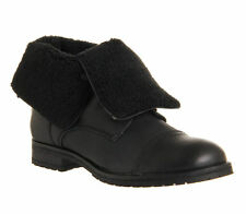 """Women's 100% Leather Wedge Flat (less than 0.5"""") Boots"""