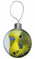 Yellow Budgerigar, Budgie Christmas Tree Bauble Decoration Gift, AB-51CB