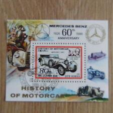 TIMBRES VOITURES ANCIENNES MERCEDES :  BLOC DE COREE de 1986 / CARS STAMPS