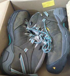 Keen Women's Boots Detroit Xt Mid St Wp steel safety toe Waterproof $155 retail
