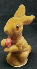 Vintage Us Zone Germany Glass Eyes Easter Bunny Rabbit Holding A Carrot