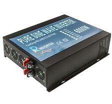 6000W Pure Sine Wave Inverter 12V dc to 120v ac Solar Car Power Inverter