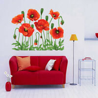 Beauty Home Family Decor Red Flower Removable Decal Room Wall Sticker Vinyl Art