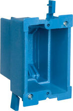 Carlon Super Blue 7-5/8 in. Thermoplastic 1 gang blue Outlet Box Rectangle