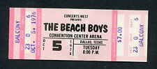 1976 The Beach Boys unused full concert ticket Dallas Texas Surfin Safari
