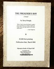 Limited Printing THE PREACHER'S BOY by Terry Pringle, 25,000 First Printing 1988