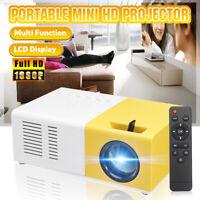 Full HD 1080P USB Heimkino Beamer Mini Tragbare Multimedia LCD Projektor