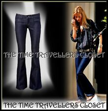 NWOT Kate Moss Topshop Indigo Wash Blue Stretch Skinny Flared Jeans UK12 W30 L32