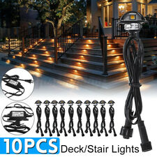 10Pcs LED Deck Step Stair Light Garden Outdoor Landscape Yard  Pathway Lamp