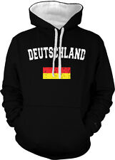 Deutschland Germany Country Flag Pride Football Soccer 2-tone Hoodie Pullover