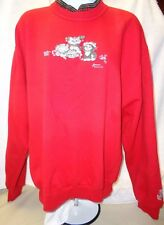 WOMENS  MED MORNING SUN PULLOVER HOLIDAY/XMAS SWEATSHIRT WITH CATS HOLIDAY DECOR