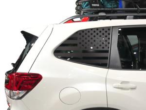 USA Flag Decals Fits Subaru Forester 2019-2020 Side Windows - American  - QB15