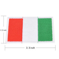 Embroidery Sew Iron on Patch Nation Flag Badge Transfers Cloth Fabric J7 Italy Flag