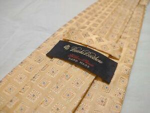 Brooks Brothers × Golden Fleece Handmade in USA Italian Silk Luxury Tie | Yellow