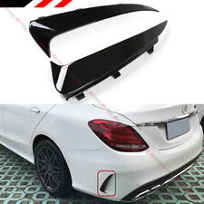 FOR 2015-18 MERCEDES BENZ W205 C43 C63 AMG 4DR BLK REAR BUMPER SIDE VENT CANARDS