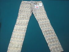 "NWT! HOT KISS SKINNY LILY GOLD SPARKLE COLORFUL JEANS SIZE 7 - 29"" W x 30"" L"