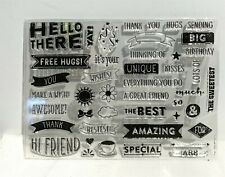 Hero Arts My Monthly Hero Kit March 2018 Sayings Words Greetings Rubber Stamps