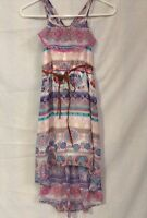 Xhilaration Girls Hi Low Maxi Dress Camelia Multi Color Size M(7/8)