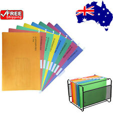 25/50x Suspension Files Foolscap Hanging File Folder Tab Colour Filing Cabinet A