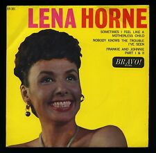 LENA HORNE Sometimes I Feel Like A Motherless Child EP+PS Bravo BR301 Jazz Blues
