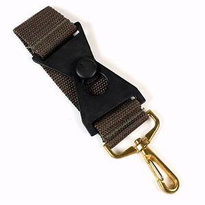 Skyway Luggage Strap Add A Bag or Accessory Strap Khaki w/ Gold Color Clasp