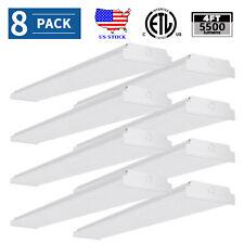 8 Pack 48'' Led Wraparound Lights Office Shop Lamp Flush Mount Garage 50W 5500Lm